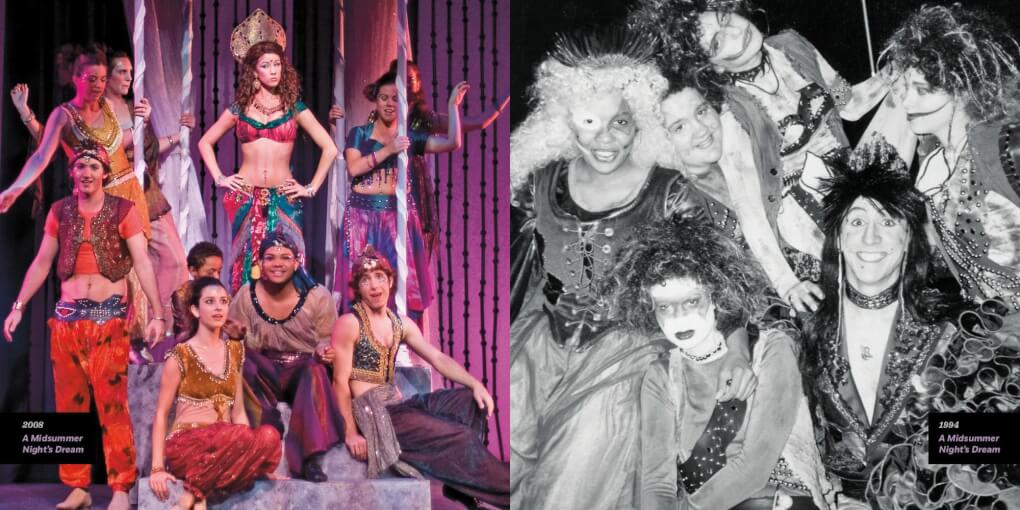 "Cast photo from the 2008 production of ""A Midsummer Night's Dream"" vs. the 1994 production"